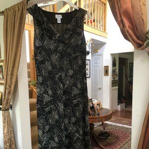 Ann Taylor loft ruffled tea length sexy dress